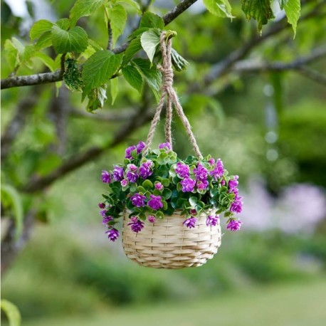 Pink hanging basket bouquet artificial flowers garden or home pink hanging basket bouquet artificial flowers garden or home mightylinksfo