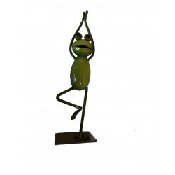 Large Metal Yoga Frog Ornament The Tree
