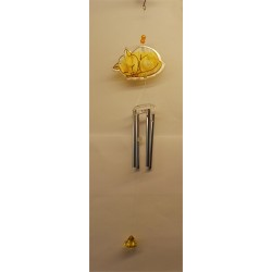 Fountasia Coloured Glass Cat Wind Chime