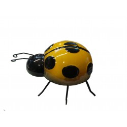 Wall Art Large Metal Yellow Lady Bird Ornaments
