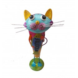 Fountasia Connor The Cat Welcome Animal Metal Planter