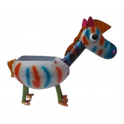 Fountasia Zoe The Zebra Animal Metal Planter