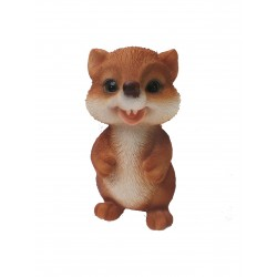 Vivid Arts Grinning Fox Cub Resin Ornament Cute Animal Decor