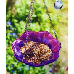 Chapelwood Anemone Hanging Glass Bird bath/ Feeder