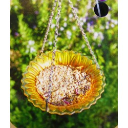 Sunflower Hanging Glass Bird bath/ Feeder Smart Garden