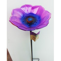 Chapelwood Glass Bird Feeder Stake (ANEMONE)
