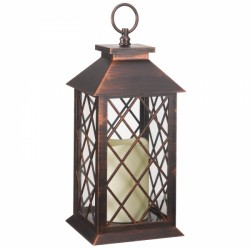 Smart Garden Battery Powered Lattice Lantern LED Candle