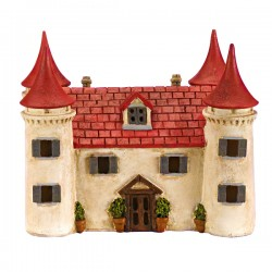 Smart Solar castle Hand Painted Ornament Elveden Collection