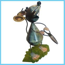 Metal Garden Stake Ornament Animal Mouse