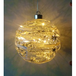 Glass Hanging Christmas Light Decoration (Sphere)