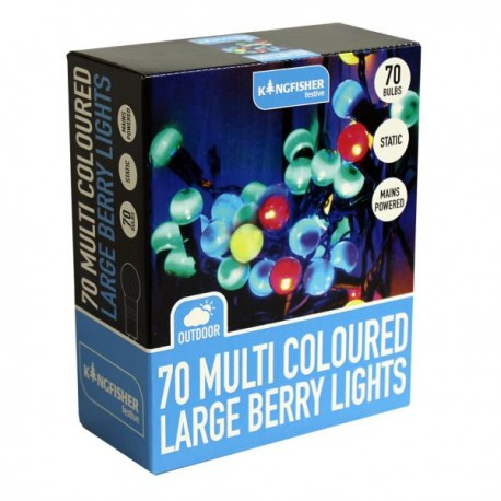70 multi coloured large berry fairy lights indoor outdoor lights 70 multi coloured large berry fairy lights indoor outdoor lights mains powered aloadofball Image collections