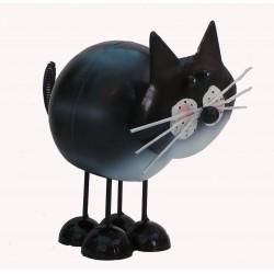 Fountasia Bobbin Black and White cat garden ornament ideal Christmas Present