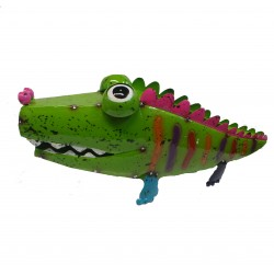 Fountasia Crocodile Flower Planter Garden Patio Ornament
