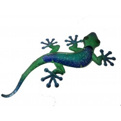 Blue Gecko Metal & Glass Wall Art Great For Indoor or Outdoor Fountasia