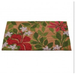 Floral and Foliage Coir Mat