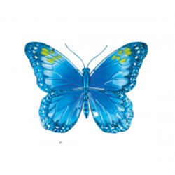 Fountasia metal & glass Blue Butterfly Wall Art Decorative indoor or outdoor Use