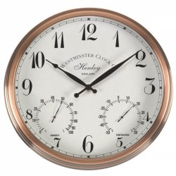 "Henley Wall Clock Suitable Indoors & Outdoors 12"" / 30cm"