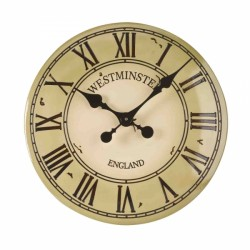 Westminster Cream Tower Wall Clock 12 inches For Use Indoor And Outdoor