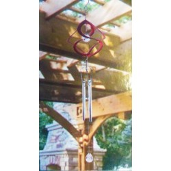 Natures Melody Helix Spinner Chime (red) Ideal for Home or Garden Very Pretty