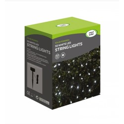 Smart Solar 50 LED White String Lights Solar Powered