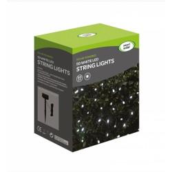 Smart Solar 50 LED White String Lights Solar Powered