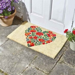 Poppy Heart Decoir Door Mat For Indoor Or Outdoor Use
