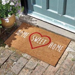 Home Sweet Home Heart Decoir Door Mat For Indoor Or Outdoor Use