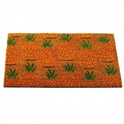 Pineapples Galore Fun Design Coir Brush Doormat 75 x 45cm
