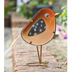 Smart Garden Rosie glass and metal robin Decorative indoor or outdoor Use