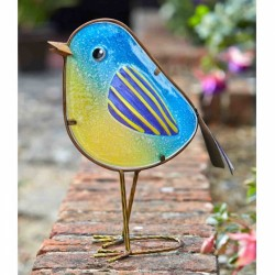 Smart Garden Betsy glass and metal Blue Tit Decorative indoor or outdoor Use