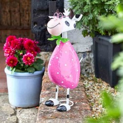 Spotty Cow Garden Sculpture by Smart Garden ideal present for garden or home