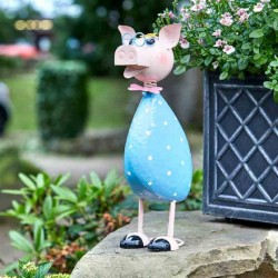 Polka Pig Garden Sculpture by Smart Garden ideal present for garden or home