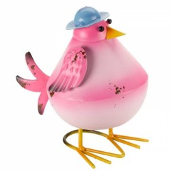Fun Garden Ornament Metal Pink Bobbly Bird avaible in other colours