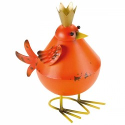 Fun Garden Ornament Metal Orange Bobbly Bird avaible in other colours