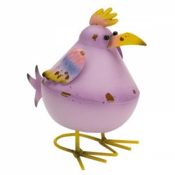 Fun Garden Ornament Metal lilac Bobbly Bird avaible in other colours