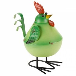 Fun Garden Ornament Metal Green Bobbly Bird avaible in other colours