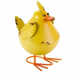 Fun Garden Ornament Metal Yellow Bobbly Bird avaible in other colours