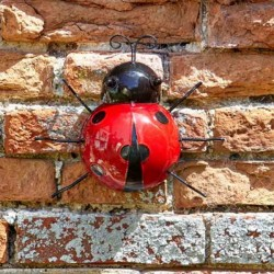 Large Wall Art Metal Ladybird Ornament Smart Garden