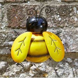 Medium Wall Art Metal Bee Ornament