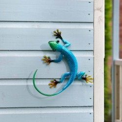 Smart Garden Flamboya Decor Gecko Blue Azure Outdoor Garden Wall Art