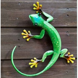 Smart Garden Flamboya Decor Gecko Emerald Green Outdoor Garden Wall Art
