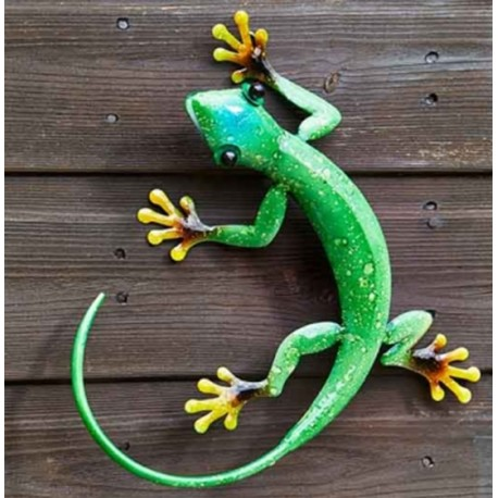Smart Garden Flamboya Decor Gecko Emerald Green Outdoor Garden Wall ...
