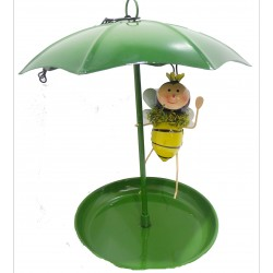 Bee Hanging Metal umbrella bath feeder Fountasia