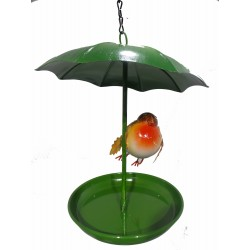 Robin Hanging Metal umbrella bath feeder Fountasia