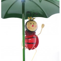 Ladybird Hanging Metal umbrella bath feeder Fountasia
