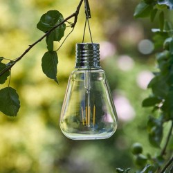 Eureka Solar Light Bulb Retro glass design, edison style filament Smart Solar