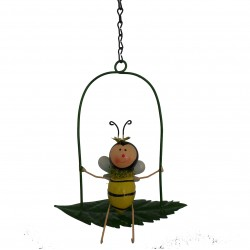 Hanging Metal Bumble Bee On A Swing Luvlie Fountasia