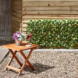 Artificial Maple Leaf Expanding Trellis Approx (180cm x 60cm) by Smart Garden