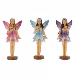 Set of 3 Miniture Secret Garden Forest Fairies Garden Figurines By Smart Garden
