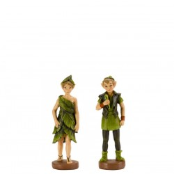 Set of 2 Miniture Secret Garden Forest Elves Garden Figurines By Smart Garden
